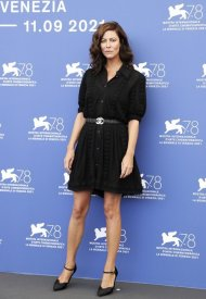 Anna Mouglalis wore Chanel at the 78th Venice International . photo by John Phillips