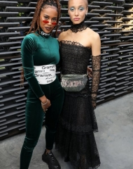 IAMDDB and Adwoa Aboah in Chanel - Summer Party London (ph by Darren Gerrish)