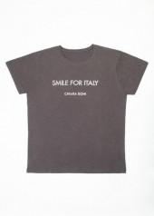 "Chiara Boni contro COVID-19. Le t-shirt ""Smile for Italy"" - man"