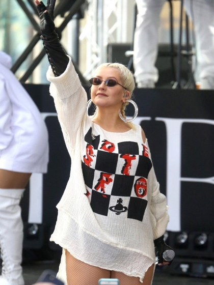 Christina Aguilera in Vivienne Westwood World's End