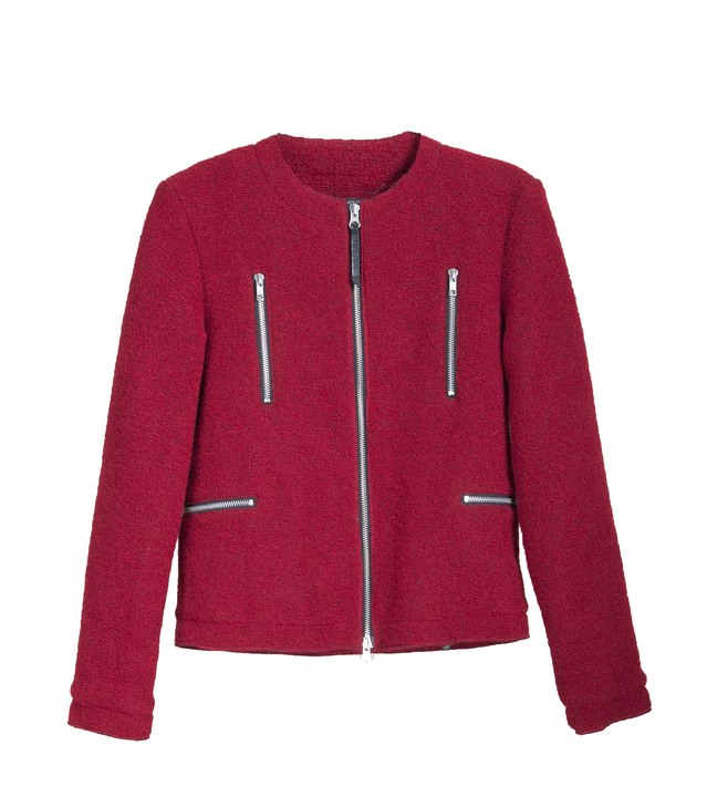 08 - EVA, giacca lanetta rossa con zip