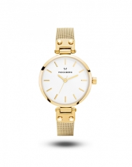 117 - Livia Petite . Bagliori gold&silver . Christmas watch griffati Mockberg