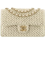 28 - Chanel Cruise Paris collection Beige crochet bag