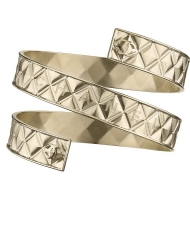 32 - Chanel Cruise Paris collection Golden metal arm bracelet