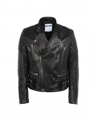 47 - Moschino men's leather jacket