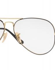82- Ray-Ban - Le montature classiche in argento e oro sono impreziosite da tocchi cromatici avana, neri o blu per uno stile altamente definito.