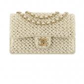 28 - Chanel Cruise Paris collection Beige crochet bag