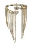 36 - Chanel Cruise Paris collection Golden metal arm bracelet