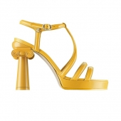 38 - Chanel Cruise Paris collection leather sandals