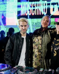 A-Trak, Diplo, Jeremy Scott . Coachella,Moschino (tv): H&M's next luxury partnership has been unveiled