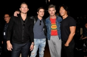 Stephen Wonderboy, Bonner Bolton Eric Rutherford and Stephen Gan attend Desigual fashion show during New York Fashion Week (Photo by Dia Dipasupil/Getty Images)