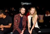 Hopper Penn and Dylan Penn attend Desigual fashion show during New York Fashion Week (Photo by Dia Dipasupil/Getty Images)