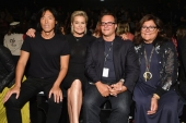 Stephen Gan, Yolanda Hadid, Ivan Bart and Fern Mallis attend Desigual fashion show during New York Fashion Week (Photo by Dia Dipasupil/Getty Images)