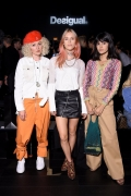 Leni Paperboats, Mary Charteris and María Bernard wearing Desigual clothing pose at Desigual fashion show during New York Fashion Week: The Shows at Gallery 1, Skylight Clarkson Sq on September 7, 2017 in New York City. (Photo by Michael Loccisano/Getty Images For Desigual)