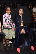 K Quann and Cipriana Quann attend Desigual fashion show during New York Fashion Week (Photo by Dia Dipasupil/Getty Images)
