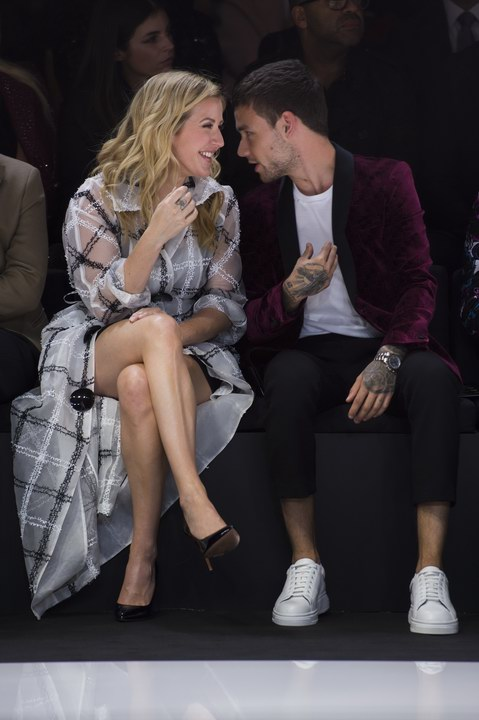 Ellie Goulding and Liam Payne at Emporio Armani Spring Summer 2018 (photo by Sgp)
