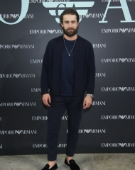 Christian Cooke at Emporio Armani Spring Summer 2018 (photo by Sgp)
