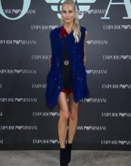 Poppy Delevingne at Emporio Armani Spring Summer 2018 (photo by SGP)