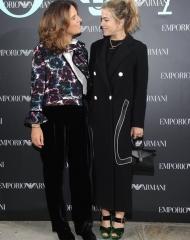 Roberta Armani and Chelsea Leyland at Emporio Armani Spring Summer 2018 (photo by SGP)