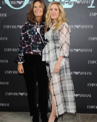 Roberta Armani and Ellie Goulding at Emporio Armani Spring Summer 2018 (photo by SGP)