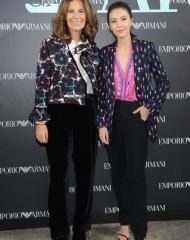 Roberta Armani and Gao Yuanyuan at Emporio Armani Spring Summer 2018 (photo by SGP)