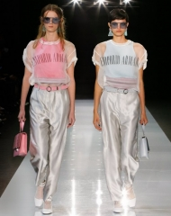 Emporio Armani women's Spring Summer 2018 collection (Photo by SGP)