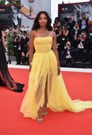 Kat Graham wore Ermanno Scervino at the 76th Venice International Film Festival
