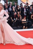Eleonora Carisi wore Blumarine at the 76th Venice International Film Festival
