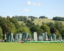 Jeremy Deller . Sacrilege, 2012 - Installation view, Yorkshire Sculpture Park, 2012 -Commissioned by the Glasgow International Festival and the Mayor of London . Courtesy of The Artist and The Modern Institute/Toby Webster Ltd, Glasgow - Photo: James Hutchinson