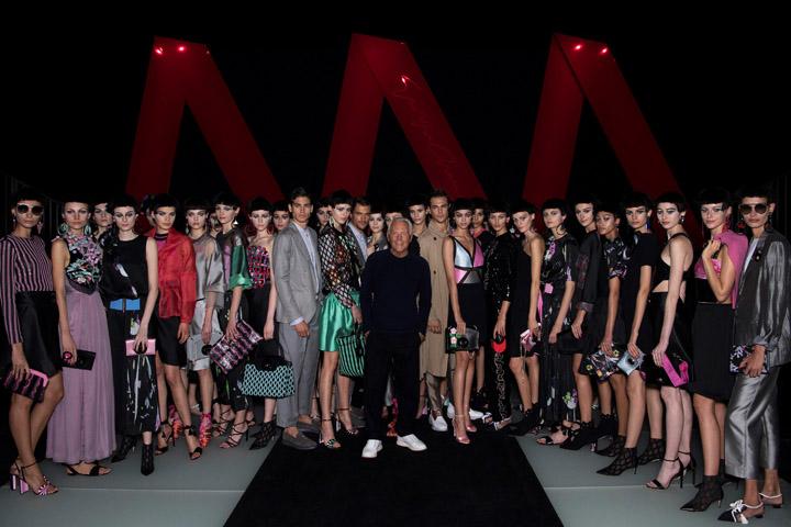 Giorgio Armani Womenswear Spring Summer 2018 Giorgio Armani with models