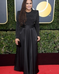 Ava DuVernay in Armani Privé . Golden Globes (Photo by Venturelli)