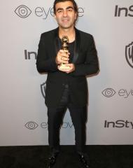 Fatih Akinin Giorgio Armani . Golden Globes (Photo by Joe Scarnici)