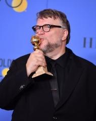 Guillermo Del Toro in Giorgio Armani .Golden Globes (Photo by George Pimentel)