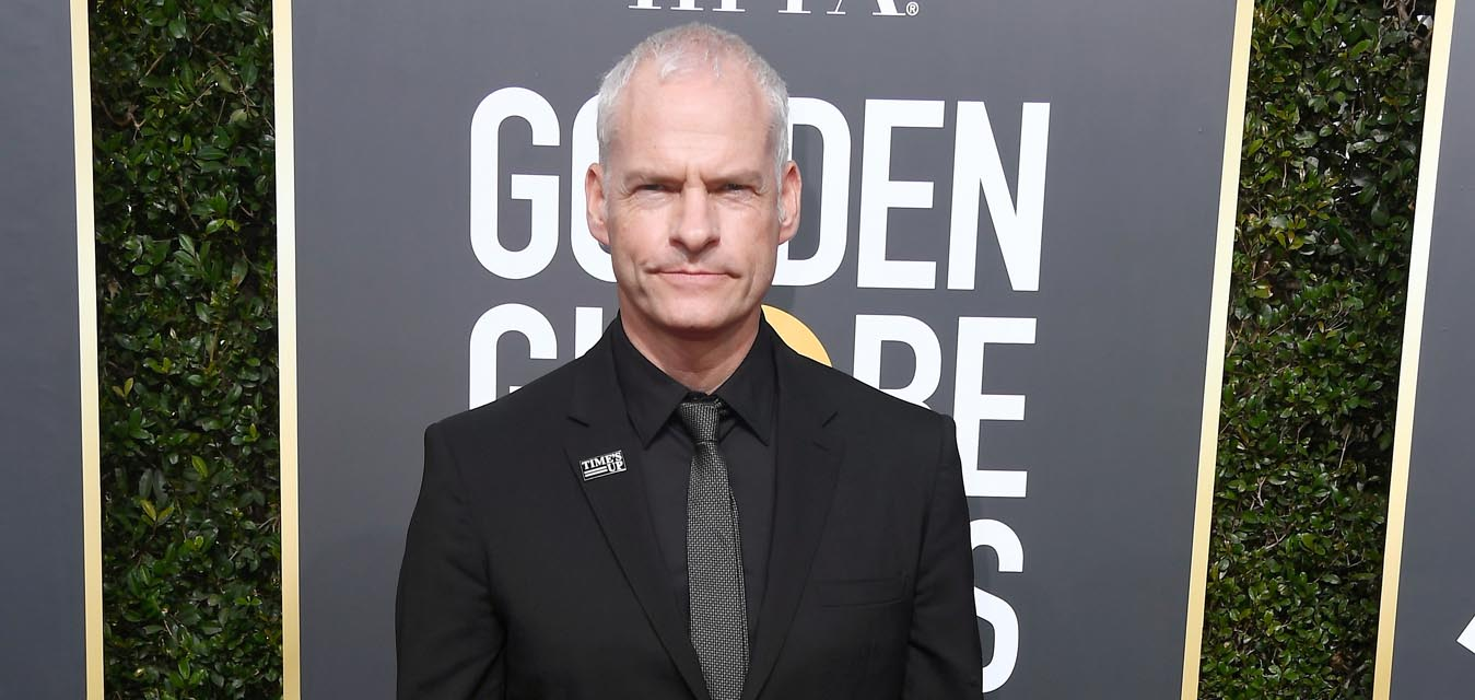 Martin McDonagh in Burberry Golden Globes (Photo by Frazer Harrison; )