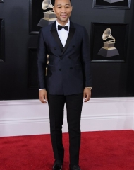 John Legend wearing Burberry . By Steve Granitz;