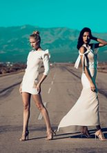 Kriè by Kristina Burja - models Daniela Christiansson and  models Daniela De Jesus (Photo by Vittorio La Fata)