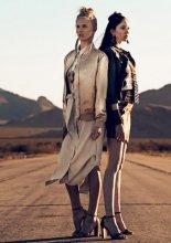 Kromagnon by Kristen Luong  models Daniela Christiansson Charlotte Hoffman (Photo by Vittorio La Fata)