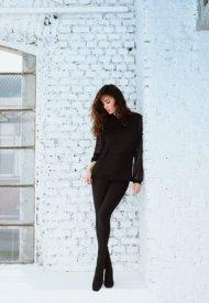 Belen Rodriguez - Jadea Magle & Leggings   Autumn Winter 2021