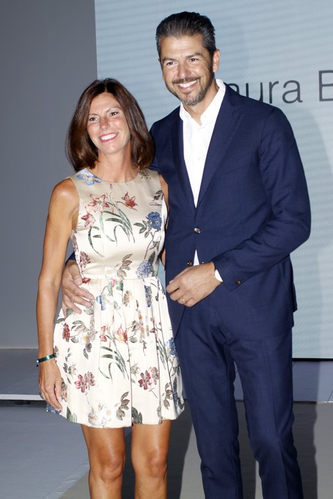 Andrea Berton with wife . Laura Biagiotti Guests . Photo by Giuseppe Spena