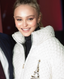 Lily Rose Depp Christmas Lights Launch On The Champs-Elysées (Photo by Stephane Cardinale - Corbis)