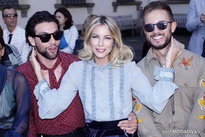 Roberta Ruiu and guests at Luisa Beccaria fashion show (Photo by Giuseppe Spena)
