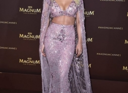 Rita Ora dares to arrive in a fearless outfit at the celebrity packed Magnum ÔTrue to PleasureÕ party in Cannes. PRESS ASSOCIATION Photo. Picture date: Thursday May 16, 2019. Photo credit should read: Matt Crossick/Magnum/PA Wire