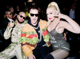 Maluma,Jeremy Scott, Gwen Stefani photo by David X Prutting/BFA.com