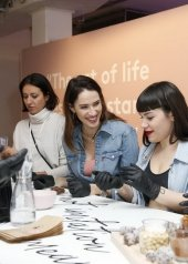 "Ludovica Sauer, Annie Mazzola, Elisa Taviti . Day 1: Triumph ""Design For Life: Fit Smart"" Launch Event In Berlin"