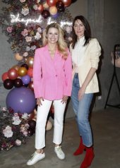 "Michelle Hunziker and Sian Thomas. Day 1: Triumph ""Design For Life: Fit Smart"" Launch Event In Berlin"