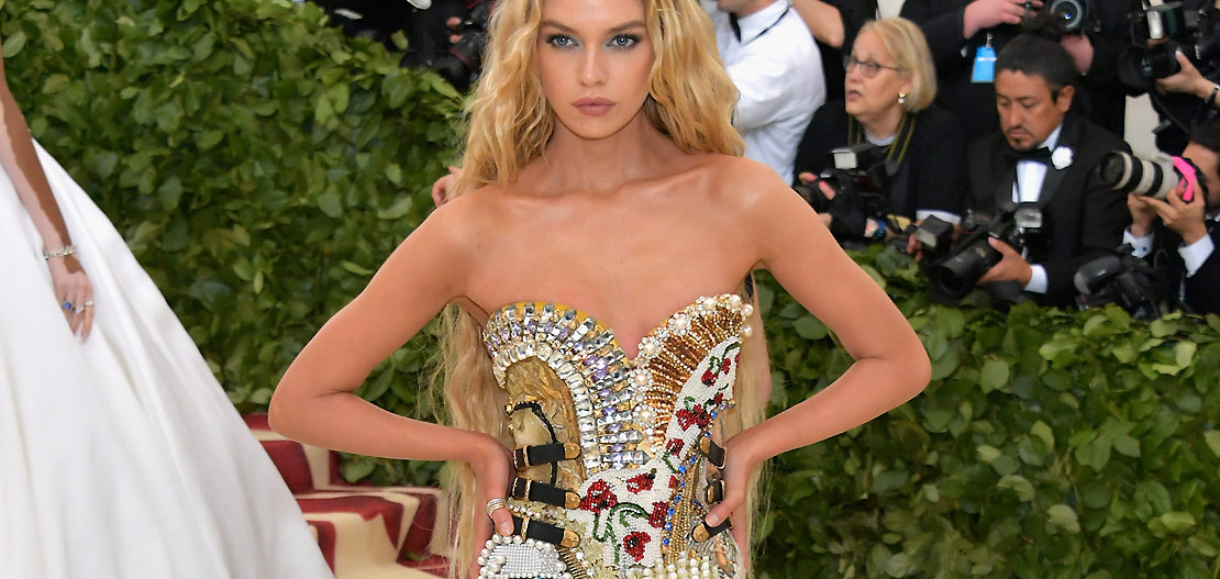 Moschino lights up the red carpet of the Met Gala 2018 with Cardi B and Stella Maxwell