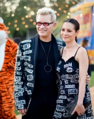 Billy Idol and China Cow attends the Moschino Spring/Summer 19 Menswear and Women's Resort Collection at Los Angeles Equestrian Center on June 8, 2018 in Burbank, California.