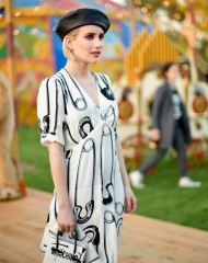 Los Angeles; Equestrian Center; Burbank, California.; Moschino; Emma Roberts attends the Moschino Spring/Summer 19 Menswear and;
