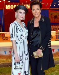 Emma Roberts and Kris Jenner attends the Moschino Spring/Summer 19 Menswear and Women's Resort Collection at Los Angeles Equestrian Center on June 8, 2018 in Burbank, California.