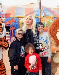 Gwen Stefani and family attends the Moschino Spring/Summer 19 Me